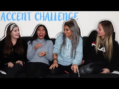 HILARIOUS ACCENT CHALLENGE | Talia Mar (W/ FREYA, GEE, AND STEPH)