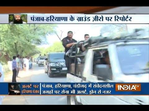 Ram Rahim leaves for Panchkula with a convoy of 800 cars