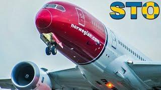 Lovely Runway Action NORWEGIAN 737s & 787s at Arlanda