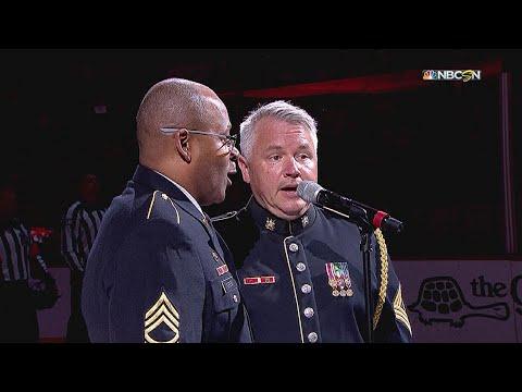 TBL@WSH, Gm6: Green, McDonald sing national anthem