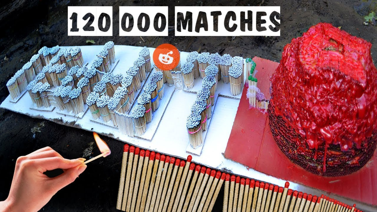 Match Chain Reaction REDDIT VOLCANO ERUPTION Amazing Fire Domino