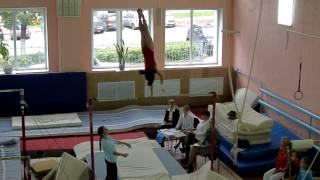 Unzhakova Anastasiya Uneven Bars. Перекладина Анастасия Унжакова. Gymnastics.