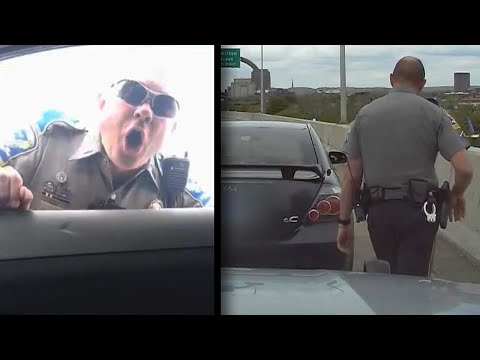 State Trooper Loses It After Driver Flips Him Off