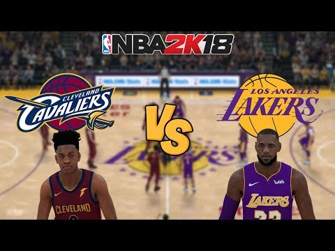 NBA 2K18 -  Cleveland Cavaliers Vs. Los Angeles Lakers - Full Gameplay (Updated Rosters)