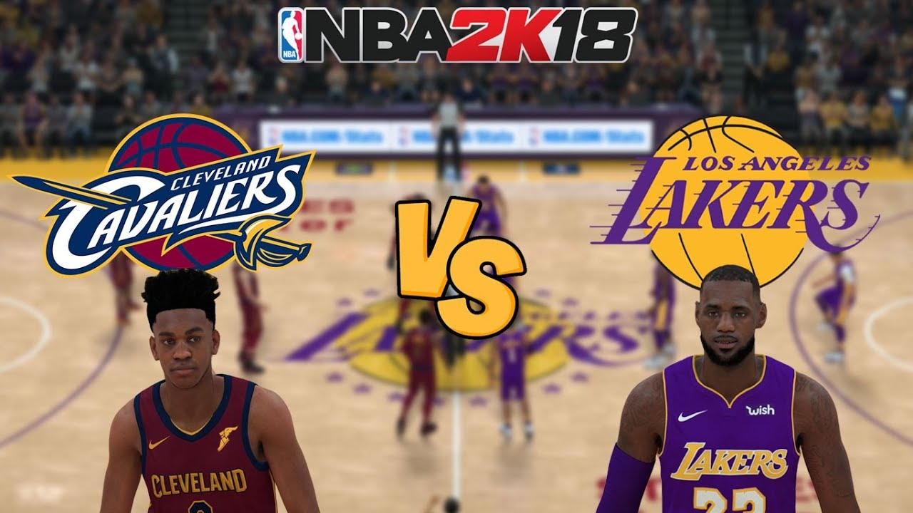 Lakers Vs Cavs >> Nba 2k18 Cleveland Cavaliers Vs Los Angeles Lakers Full Gameplay Updated Rosters