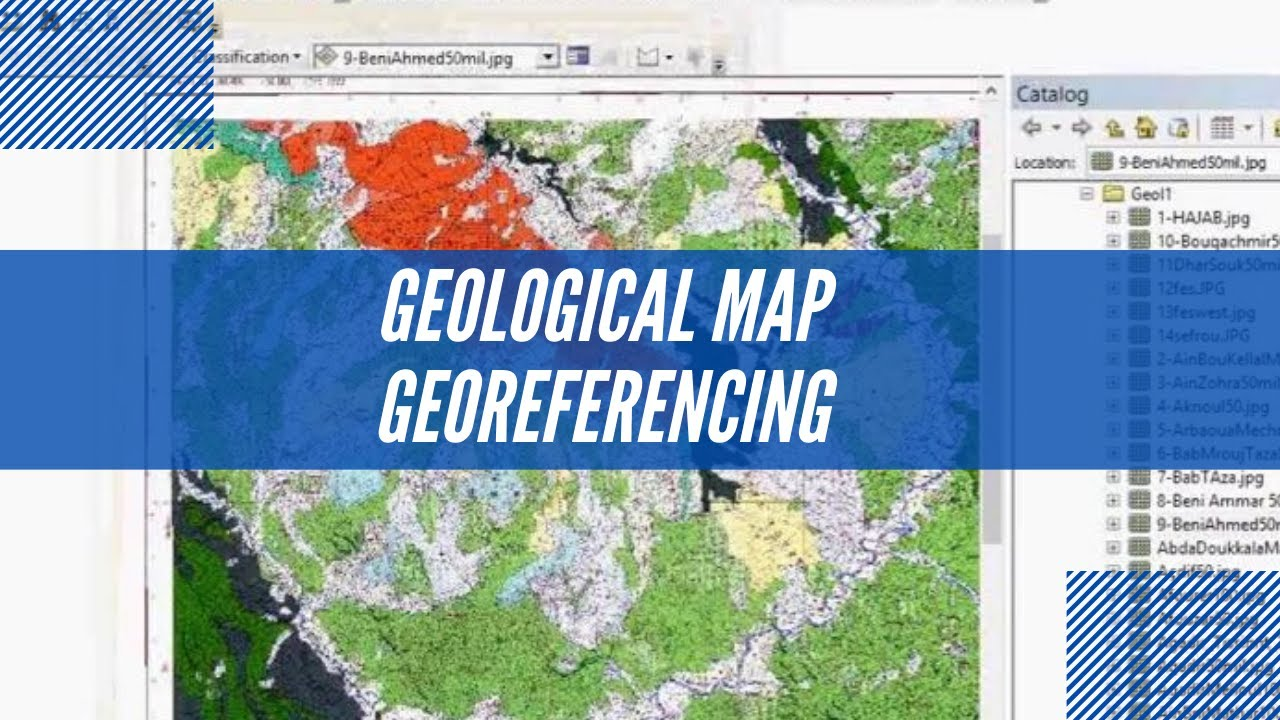 Georeferencing Geological Map - YouTube