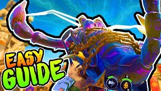 "BO4 ZOMBIES ""IX"" DEATH OF ORION EASY GUIDE (SCORPION GUN SERKET'S KISS TUTORIAL)"