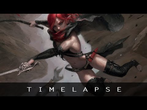 Digital Painting Timelapse - Fantasy Character Illustration