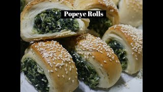 Popeye (Spinach and Ricotta Stuffed) bread  rolls