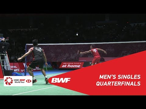 QF | MS | Kento MOMOTA (JPN) [1] vs. Anthony Sinisuka GINTING (INA) [7] | BWF 2019