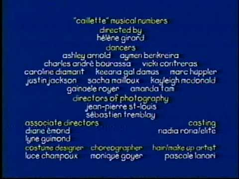 Caillou Ending Credits Pbs 2000 Mpg Youtube