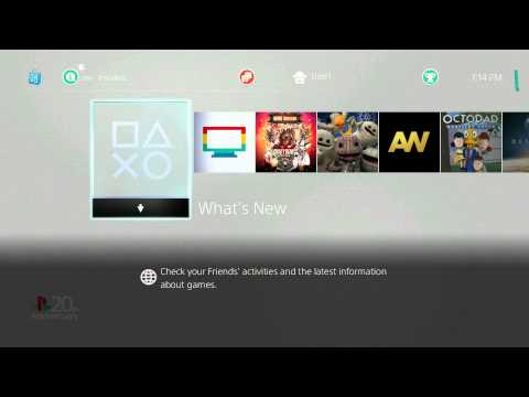 Playstation 4 20th Anniversary Theme Startup