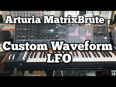 4 Minutes Demo of the Arturia Matrixbrute Custom Waveform Lfo.