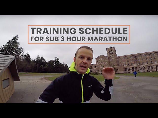 Training Schedule for Sub 3 Hour Marathon | Extramilest