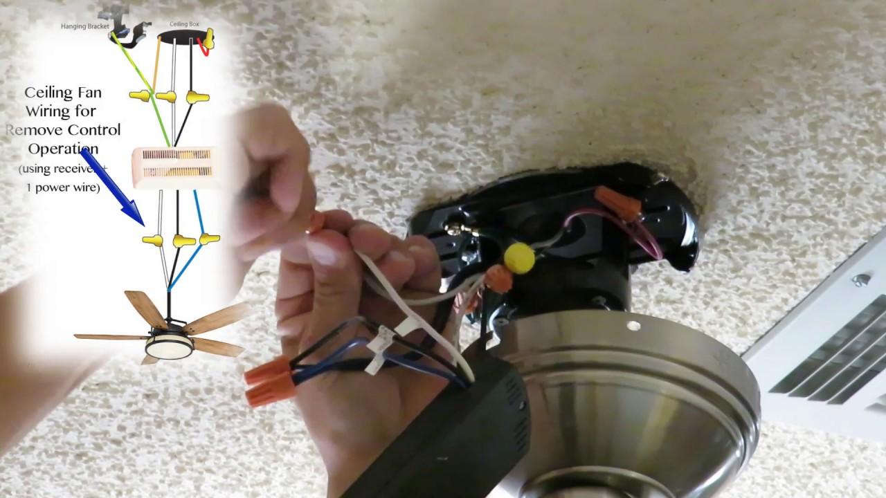 Instalacion elecrtica de un ventilador de techo 2 de 2 - Instalar lampara techo ...