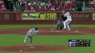 Clayton Kershaw 8 Ks in 6 IP vs Cardinals | Dodgers vs Cardinals