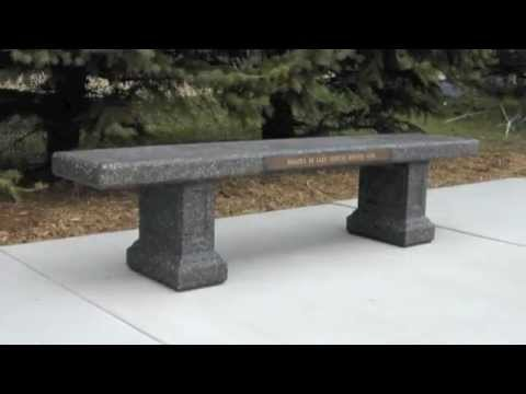 Concrete Memorial Products Doty Amp Sons Concrete Products Inc Memorial Benches Youtube