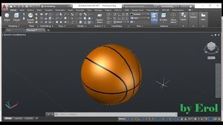 AutoCAD 3D modeling Basketball