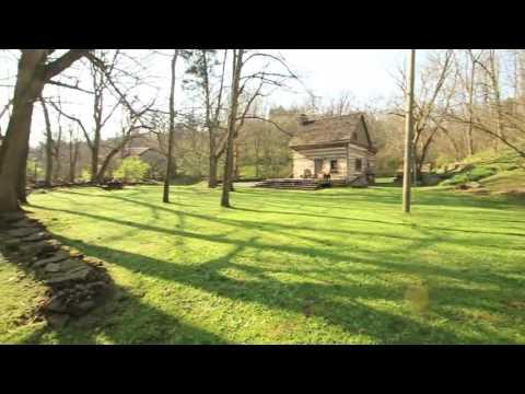 Artist Retreat, Sugar Creek Log Cabin 23 acres, stream, creek, Kentucky