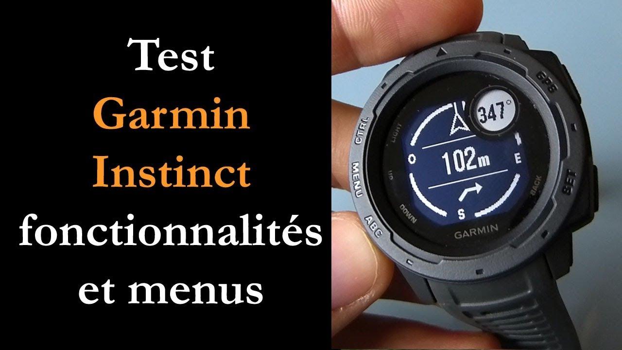 Test Garmin Instinct : montre GPS rando et trail