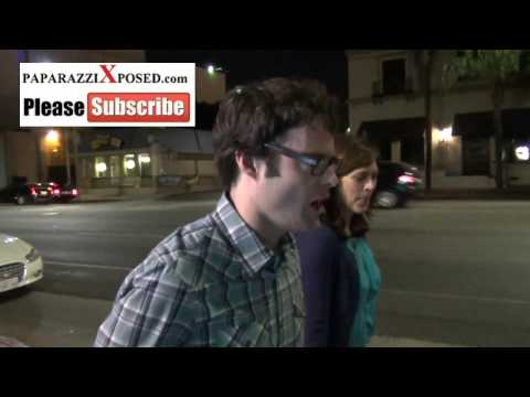 Bill Hader talks about what he would do if world was gonna end outside Cat and Fiddle Restaurant in