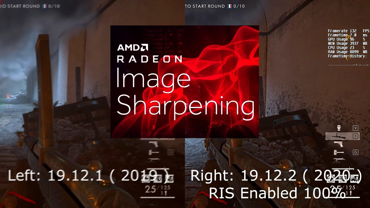 Radeon Image Sharpening Ris In Battlefield 1 V Directx11 Youtube