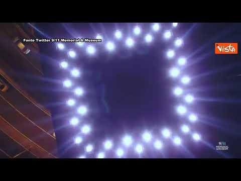 11 Settembre, le Torri Gemelle di New York rinascono con un gioco di luci
