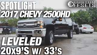 Spotlight - 2017 Chevy 2500HD, Leveled, 20x9 -12's, and 33's