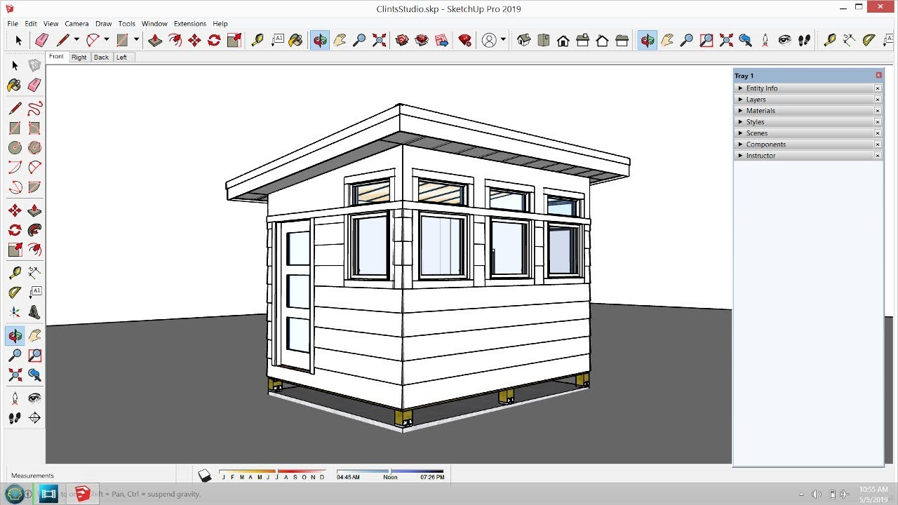 Clint's Backyard Studio - Ep 6 - Siding and Drywall ... on Sketchup Backyard id=74529