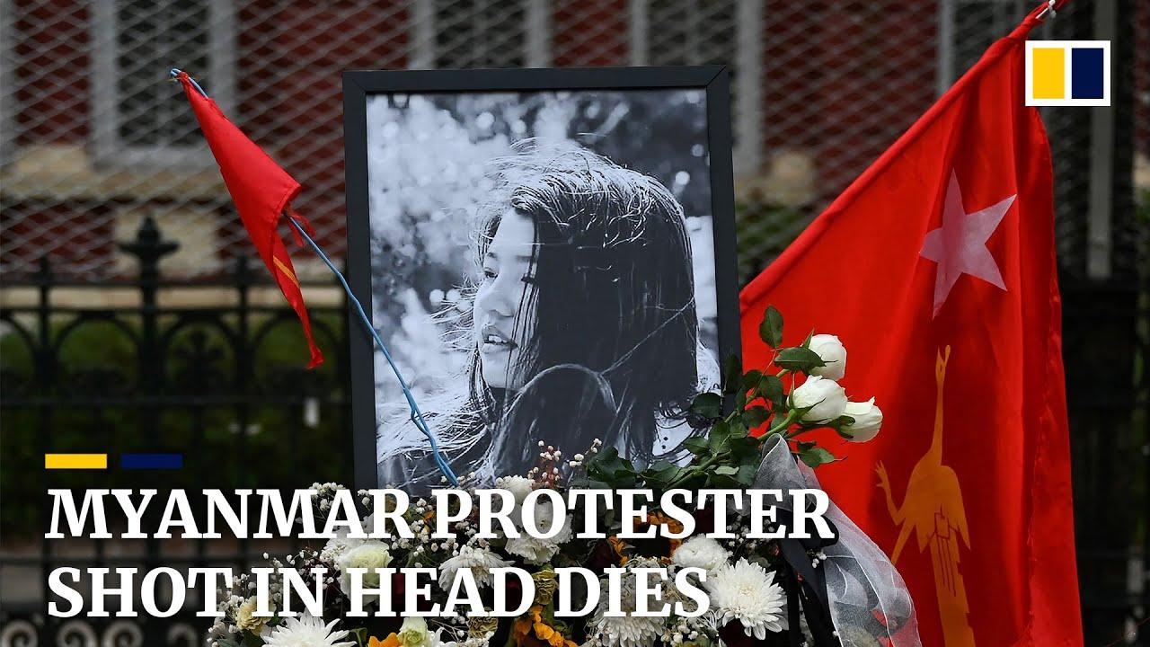 Feb. 19, 2021 Mya Thwe Thwe Khaing dies, protester shot in head by Myanmar Security Forces on Feb. 9