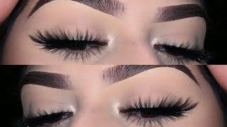How to apply false eyelashes for beginners +tips | Kayla Martinez