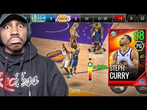 98 OVR STEPH CURRY SHOOTING 3 POINTERS! NBA Live Mobile 18 Gameplay Ep. 30