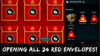 OPENING ALL 24 RED ENVELOPES! THINGS TO WATCH OUT! FIFA MOBILE 18 LUNAR NEW YEAR TIPS!