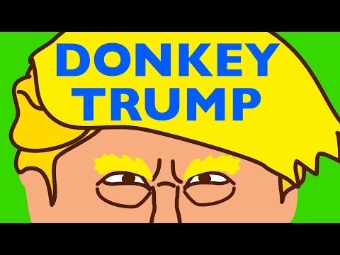 DONKEY TRUMP vs BERNIE SANDERS - Video Game Animated Parody