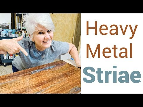 Heavy Metal Striae- Stone Coat Countertop Epoxy Tutorial
