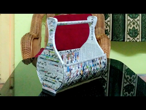 How to make a newspaper rack / holder