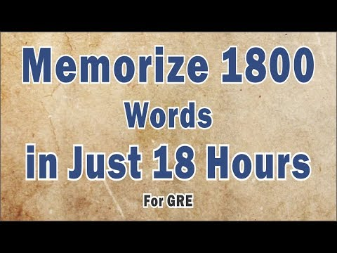 How to learn gre vocabulary