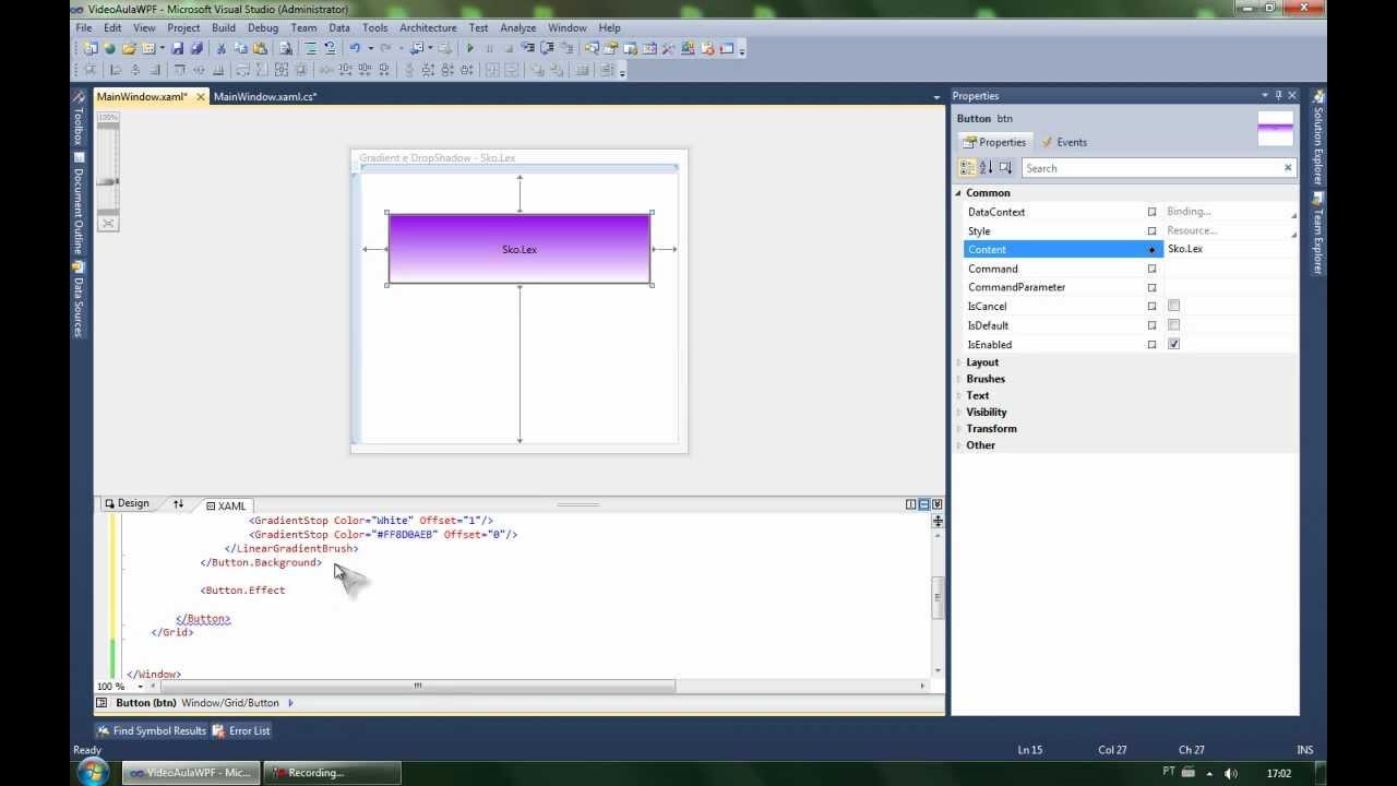 WPF Gradient / DropShadow C# - HD - Sko Lex