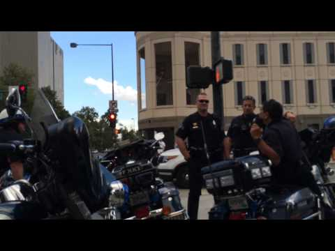 Interaction with Michael Rispoli of the Denver Police at March for Victims of State Violence