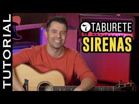 Cómo tocar SIRENAS de Taburete en guitarra ACORDES y RITMO   | Guitarraviva