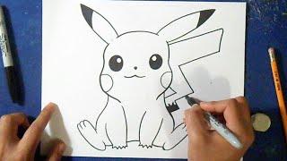 Como desenhar o Pikachu 4