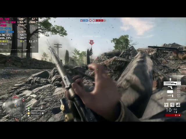 Battlefield 1 - Max Settings - RX 580 8GB | i7-4770 (1080P)