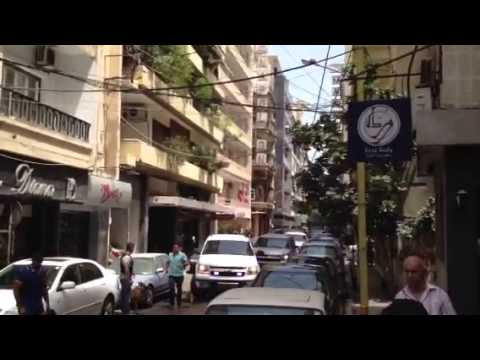 Raid in Hamra street, Beirut Lebanon
