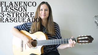 Flamenco guitar lesson: 3-stroke rasgueado