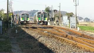 2017年12月19日 久留里線横田駅を発車する927D