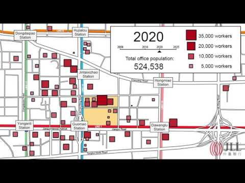 Beijing CBD Guomao Office Population 2008-2025