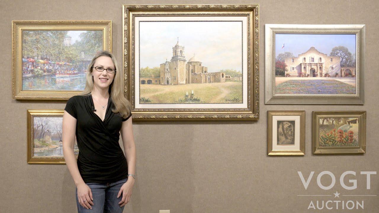 Spotlight San Antonio Landmarks In Art At Vogt Auction Sunday Aug 21th 12pm Cdt