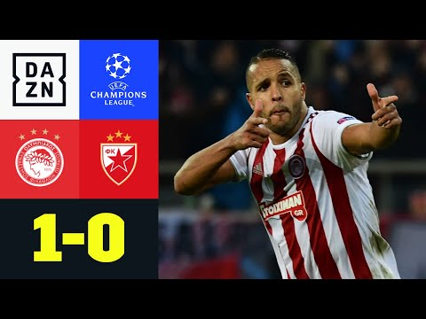 Später Elfer! Piräus in Europa League: Olympiakos - Roter Stern 1:0 | UEFA Champions League | DAZN