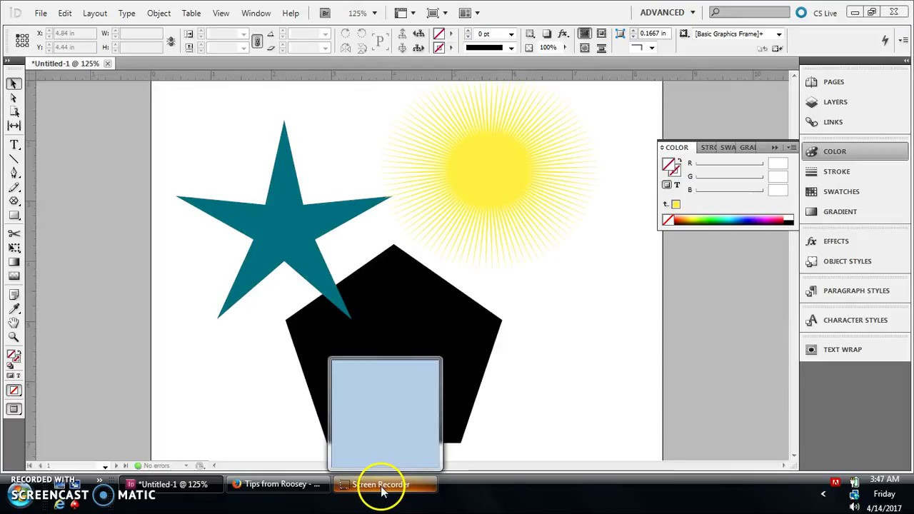 how to make a star in indesign