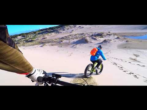 WHY FREERIDE A FAT downhill?  BECAUSE YOU CAN DO THIS! 150ft dune drop! And ride back up.usa/uk bike